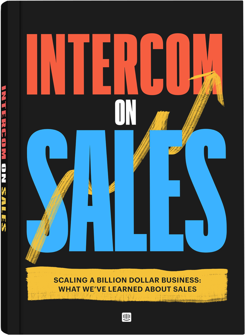 Intercom on Sales book cover