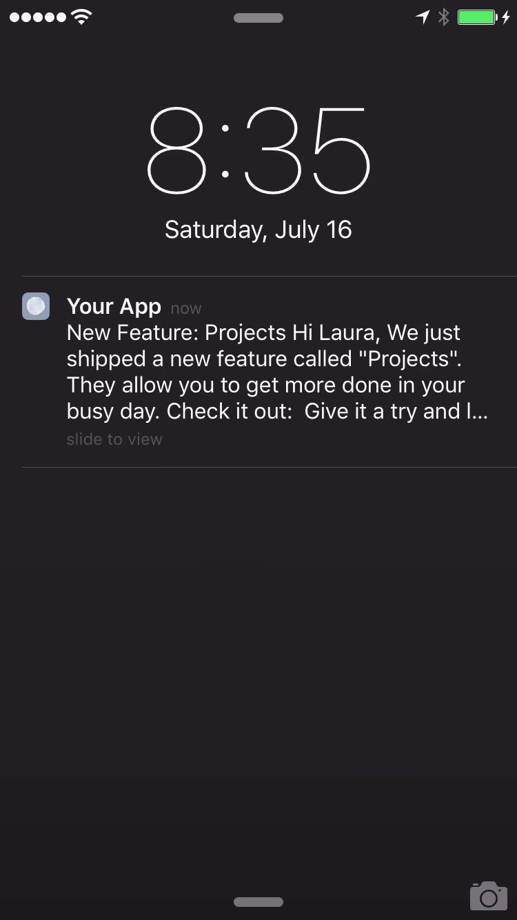 use push notifications to keep users engaged